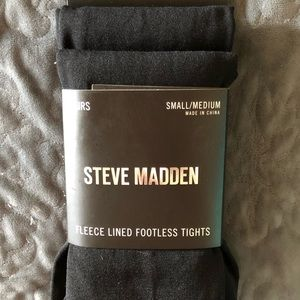 Steve Madden 2 Pairs Fleece Lined Footless Tights